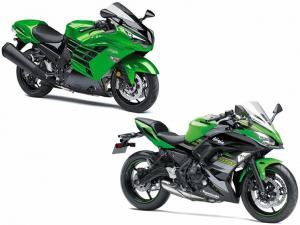 Kawasaki Ninja 650 ABS KRT 2018 et Ninja ZX-14R ABS
