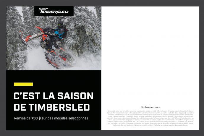 timbersled motoneige polaris snowbike