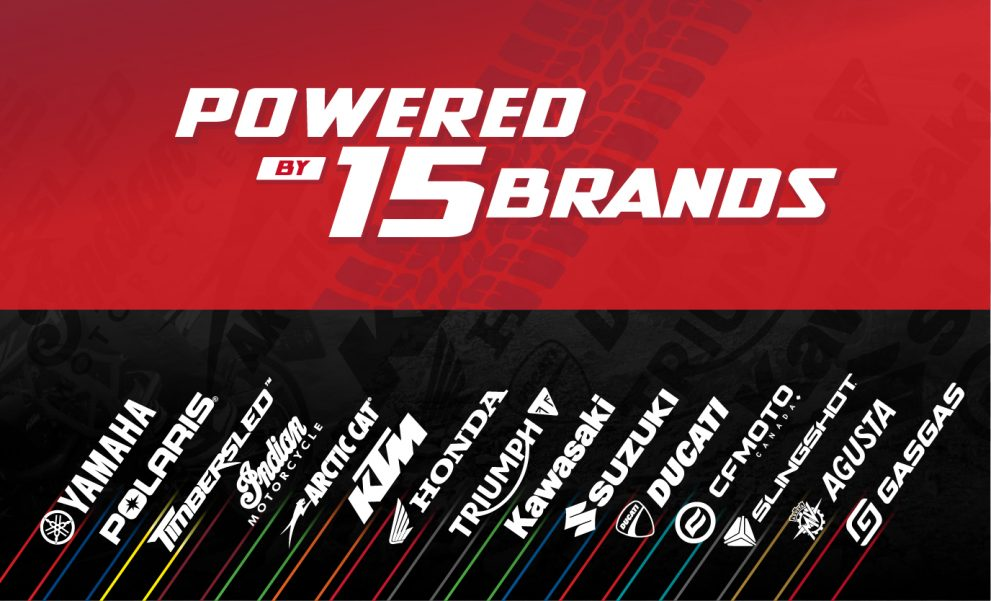 POWERED BY 15 BRANDS